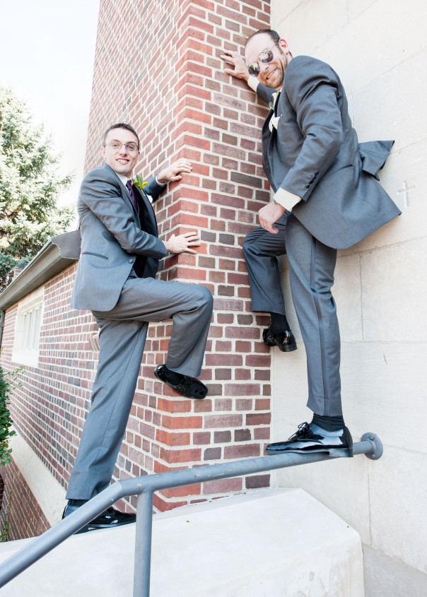 How fitting? A Climbing Themed Wedding Photo